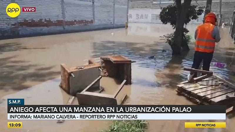 Este es el panorama en la urbanización Palao.