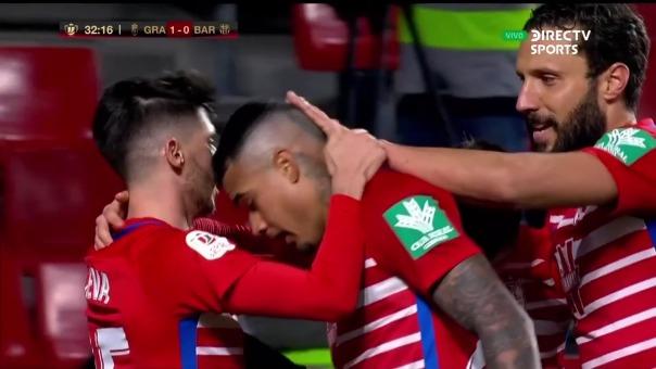 Granada 1-0 Barcelona: así fue el gol de Kenedy