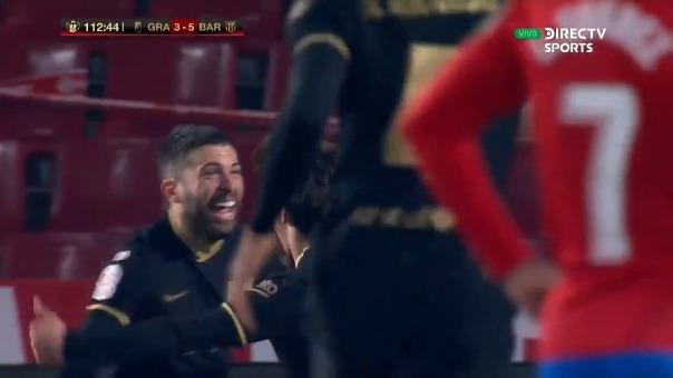 Granada 3-5 Barcelona: golazo de Jordi Alba, el quinto del cuadro azulgrana