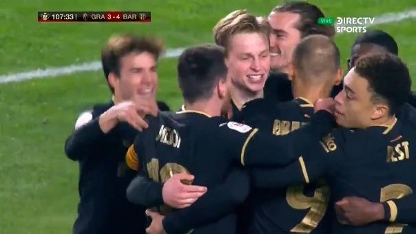Granada 3-4 Barcelona: así fue el gol de De Jong