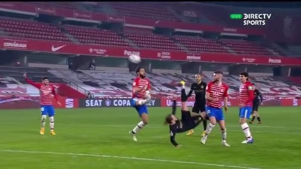 Casi gol de Antoine Griezmann