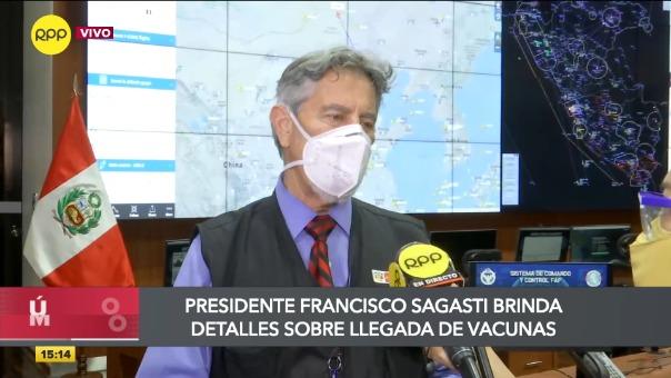 Presidente Sagasti dio una declaraciones exclusivas a RPP Noticias.