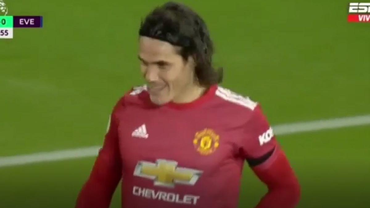 Así fue el gol de Edinson Cavani en el United vs. Everton.