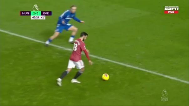 Manchester United vs. Everton: así fue el gol de Bruno Fernandes