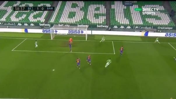 Betis vs. Barcelona: así fue el gol de Borja Igleasias
