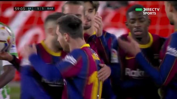 Betis vs, Barcelona: así fue el gol de Lionel Messi