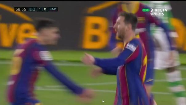 Real Betis 1-1 Barcelona: el gol de Lionel Messi, que le da el empate a los azulgranas