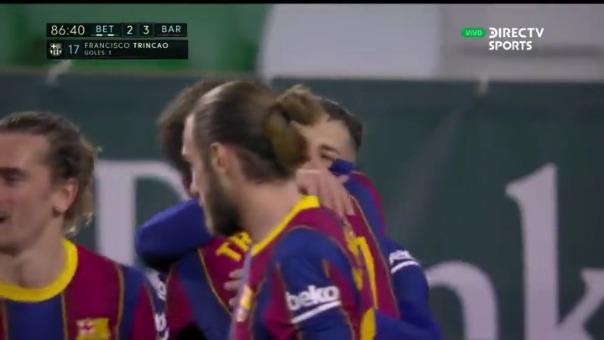 Betis 2-3 Barcelona: así fue el gol de Trincao que le dio la victoria al equipo de Ronald Koeman