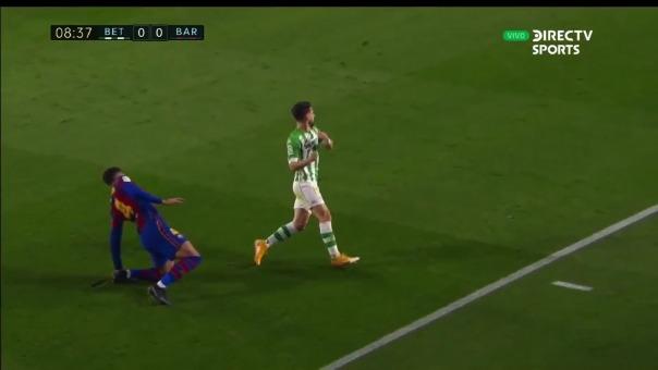 Lesión del jugador de Barcelona.
