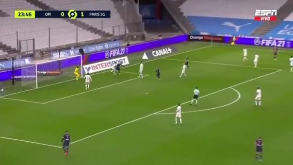 Mauro Icardi marcó el 2-0 ante Olympique de Marsella
