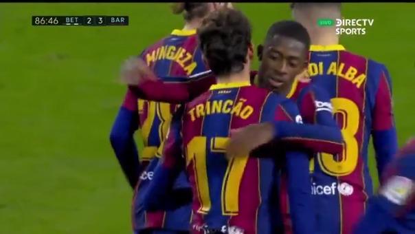 Trincao anotó este golazo en partido ante Betis por LaLiga