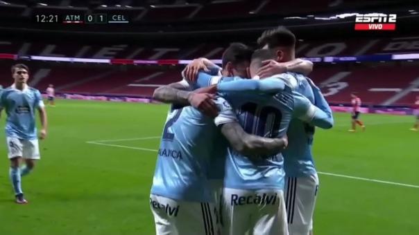 Atlético de Madrid 0-1 Celta de Vigo: así fue el gol de Santi Mina
