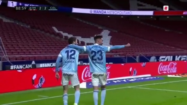 Atlético de Madrid 2-2 Celta de Vigo: así fue el gol del empate de Facundo Ferreyra.