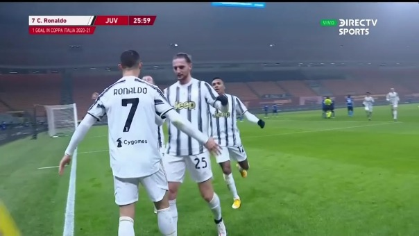 Cristiano Ronaldo anotó un doblete ante Inter en el duelo de ida