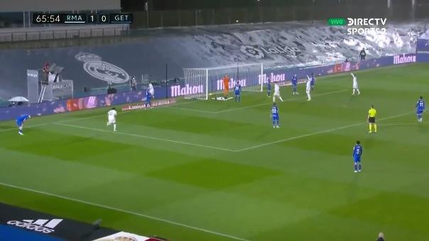 Mendy marcó el 2-0 ante Getafe por LaLiga