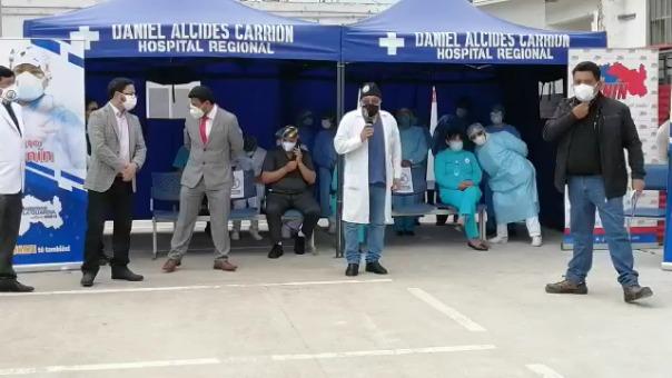 El jefe del comando COVID-19 del hospital Daniel Alcides Carrión de Huancayo, José Jordán Morales, agradeció al personal por su labor.