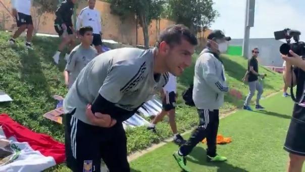 El portero Nahuel Guzmán celebró su cumpleaños a un día de la final ante Bayern