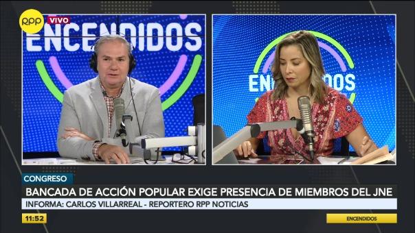 Bancada de Acción Popular exige presencia de miembros del JNE.
