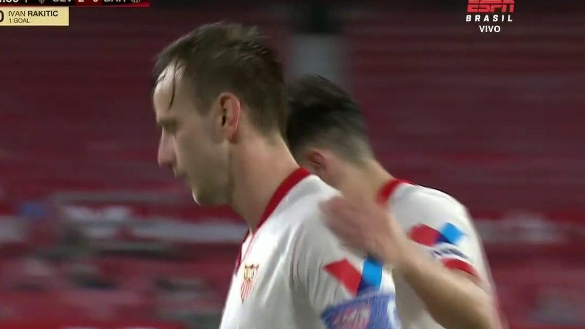 Así fue el gol de Ivan Rakitic en el Barcelona vs. Sevilla.