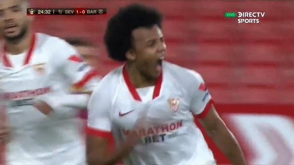 Sevilla vs. Barcelona: así fue el gol de Jules Koundé para el 1-0 en el Pizjuán