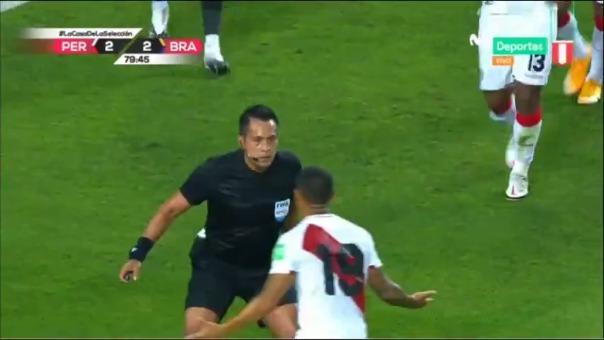 Julio Bascuñán durante el Perú vs. Brasil por las Eliminatorias