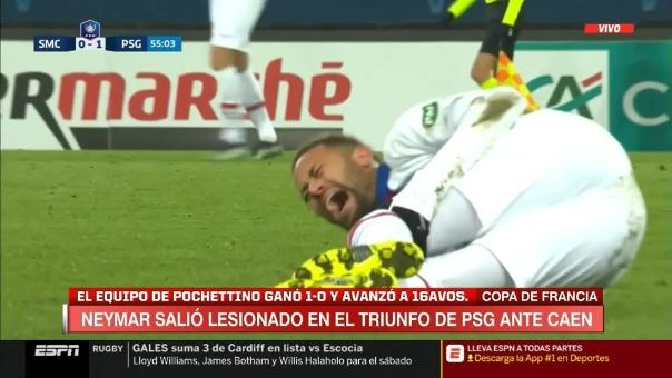Lesión de Neymar ante el Caen por la Copa de Francia