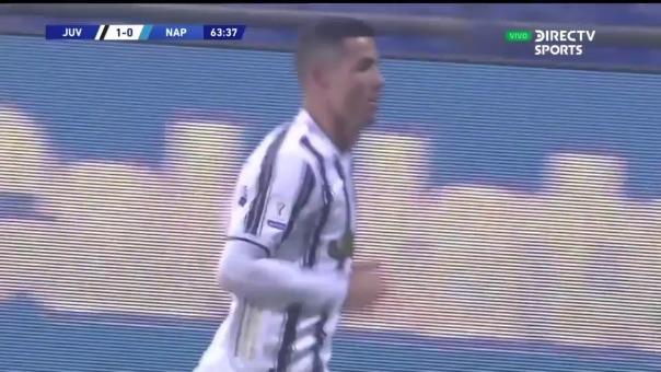 Cristiano Ronaldo le anotó a Nápoli en la Supercopa de Italia