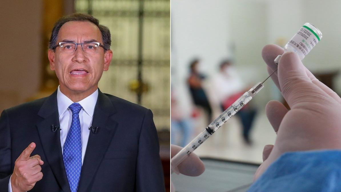Martín Vizcarra confirmó que fue parte de los estudios del laboratorio de Sinopharm.