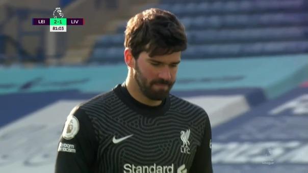 Blooper de Alisson Becker en el Liverpool vs. Leicester