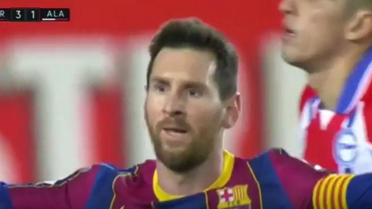 Este fue el gol de Messi para su doblete contra Alavés.