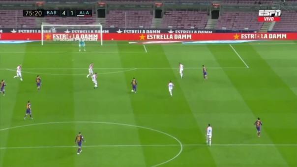 Barcelona 4-1 Alavés: así fue el gol de Messi
