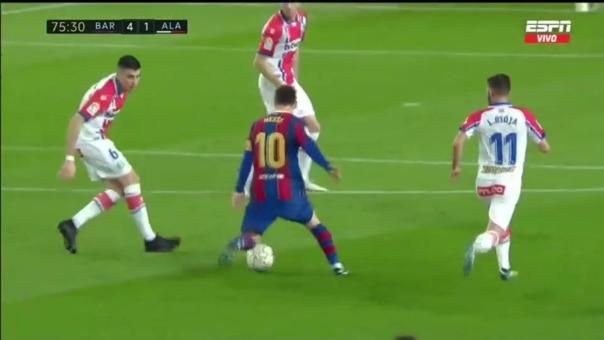 Barcelona 4-1 Alavés: así fue el gol Lionel Messi, el segundo de la tarde
