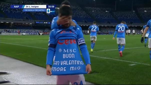 Gol de Lorenzo Insigne para el 1-0 de Nápoli ante Juventus