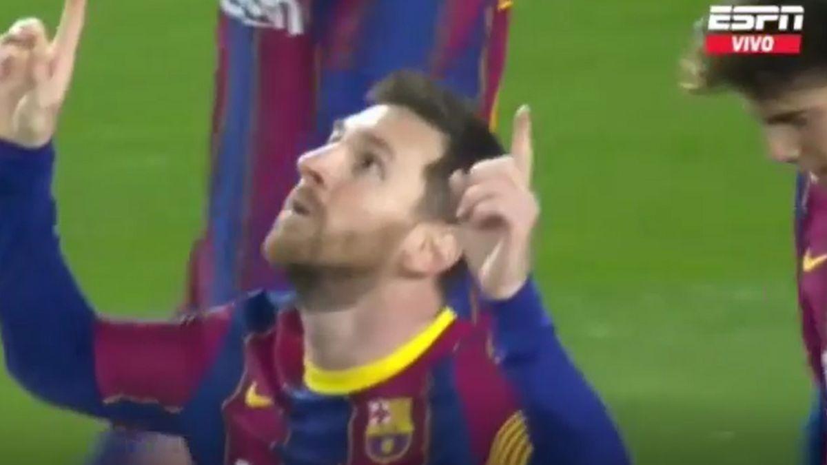 Este fue el gol de Lionel Messi en el Barcelona vs. Alavés.
