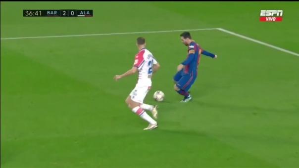 El VAR anuló el 2-0 de Lionel Messi ante Alavés