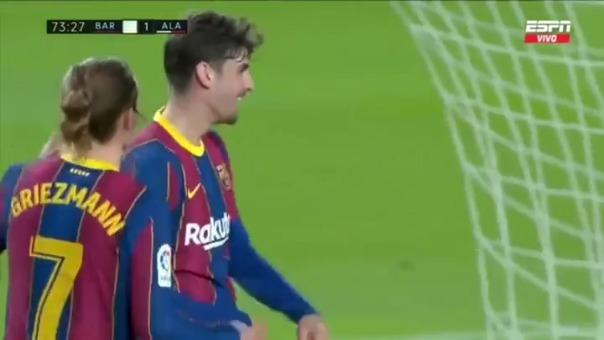 Trincao anotó el 3-1 ante Alavés en partido por LaLiga