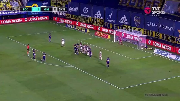 Boca Juniors 2-2 Gimnasia: así fue el gol de Edwin Cardona