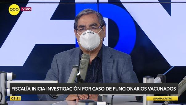 Óscar Ugarte, ministro de Salud, en RPP.