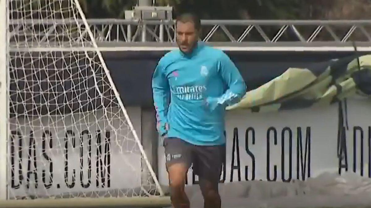 Así trabaja Hazard en la ciudad deportiva Valdebebas.
