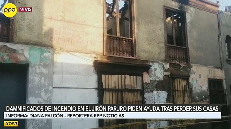Así quedó la quinta incendiada en el Cercado de Lima.