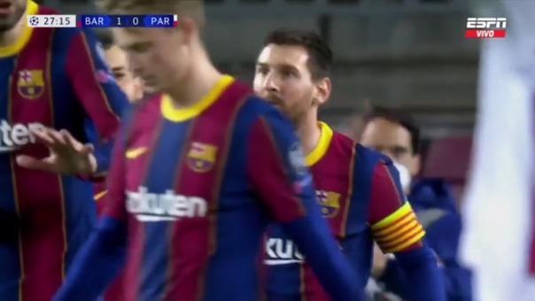 Gol de Lionel Messi para el 1-0 de Barcelona sobre PSG