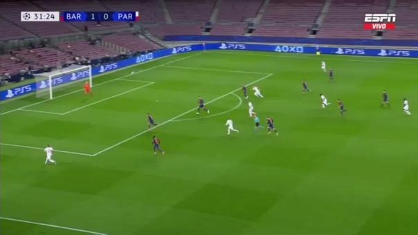 Así fue el gol de Kylian Mbappé al Barcelona.