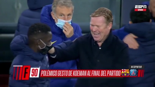 La polémica risa de Ronald Koeman tras caer 1-4 ante PSG en el Camp Nou