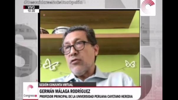 Germán Málaga ante el Congreso por aplicación de dosis de vacunas de manera irregular a funcionarios.