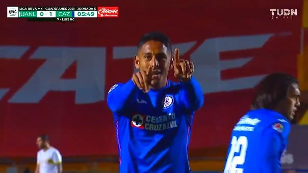 Tigres vs. Cruz Azul: así fue el gol de Luis Romo