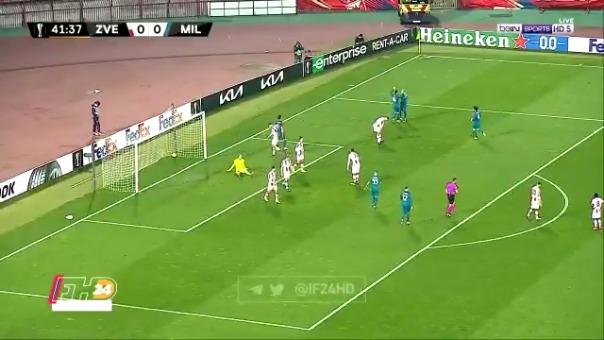 Autogol de Pankov para el 0-1 de AC Milan