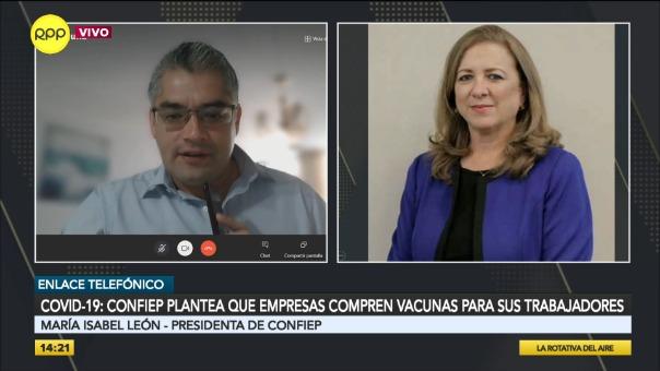 Entrevista a María Isabel León, presidenta de Confiep.