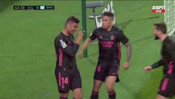 Valladolid vs. Real Madrid: así fue el gol de Casemiro