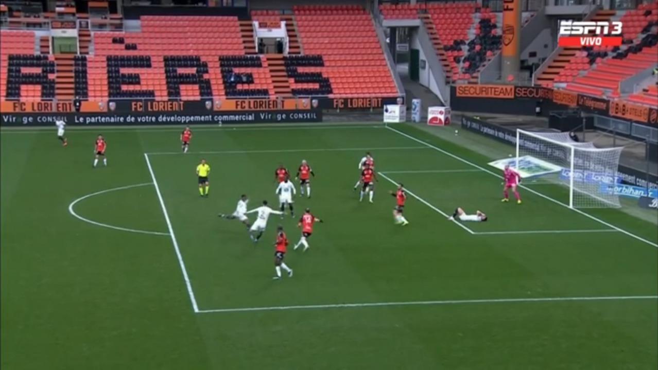 Lorient vs. Lille: así fue la jugada del gol de Lille