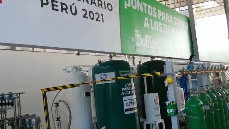 El alcalde Guido Casassa dijo que la planta también abastecerá los centros de salud del distrito.